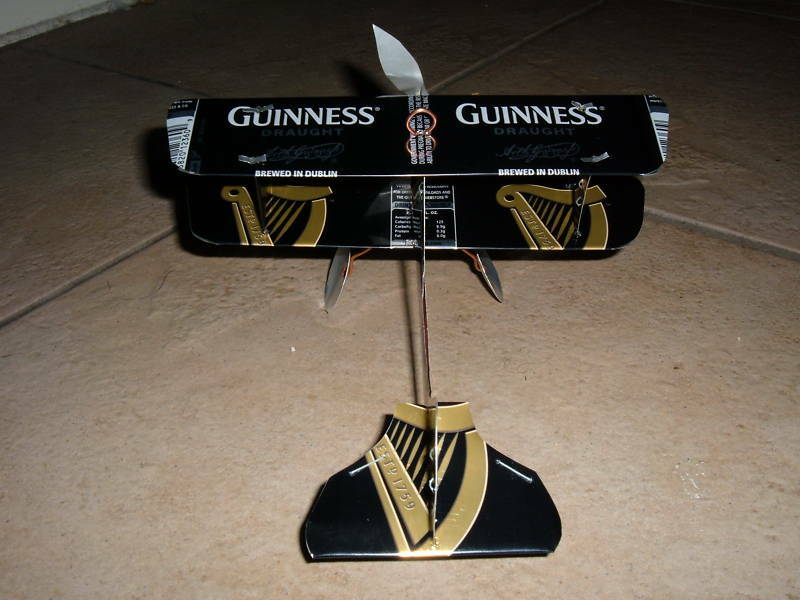 GUINNESS DRAUGHT Can Airplane Made from REAL Beer cans