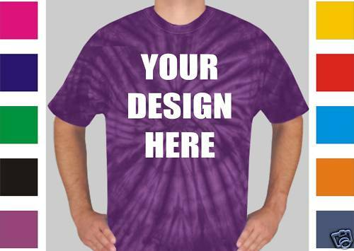 24 Custom Screen Printed TIE DYE T-Shirts TYE - $9.00 each