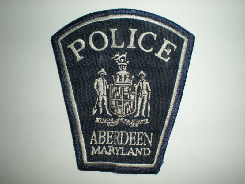 ABERDEEN, MARYLAND  POLICE DEPARTMENT PATCH.