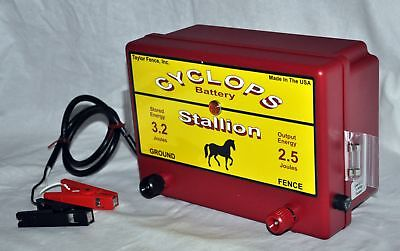 Cyclops Stallion Battery Powered 2.5 Joule Electric Fence Charger Energizer