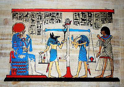 Ägypten kleines Papyrus-Bild 20x16 cm - Das Totengericht