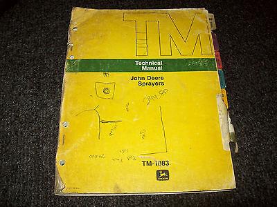 John Deere Sprayers 25a 220 320 335 520 535 550 Technical Manual Tm-1083 Nov73