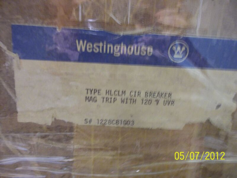 Westinghouse Type Hlclm Circuit Breaker Mag Trip With 120v Uvr