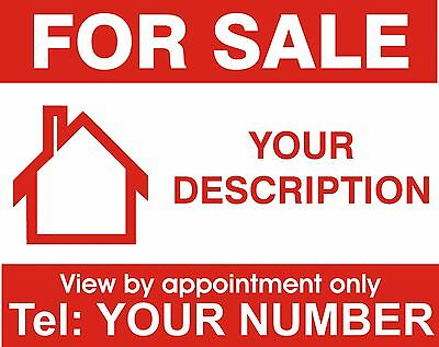 Property For Sale sign board. Personalised x 2