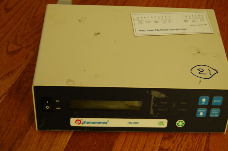 HPLC Phenomenex minimizer solvent recycler waste RC-200 parts