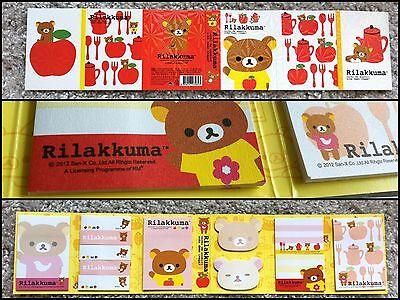 San-x Rilakkuma Bear Post-it 6 Fold Sticky Memo Paper Pad Sticker Notes Red