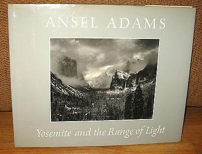 SIGNED Ansel Adams Yosemite and The Range of Light HC DJ Sierra Nevada 2nd Print
