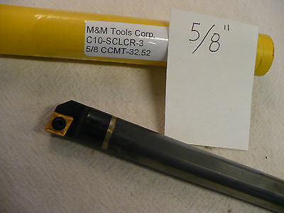 "NEW 5/8"" CARBIDE BORING BAR C10-SCLCR-3. TAKES CCMT 32.52 CARBIDE INSERT  (A637)"
