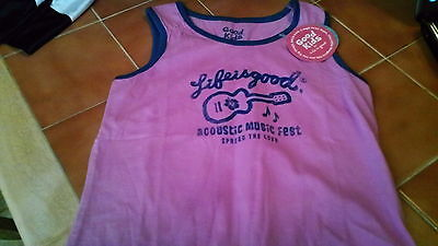 LIFE IS GOOD GIRLS TANK TOP SIZE 4 GUITAR ACOUSTIC FEST  NWT   Life Is Good Girls Tank Top
