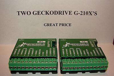 Two Cnc Geckodrive G-210xsextras Stepper Motor Driver Gecko Router Mill Plasma