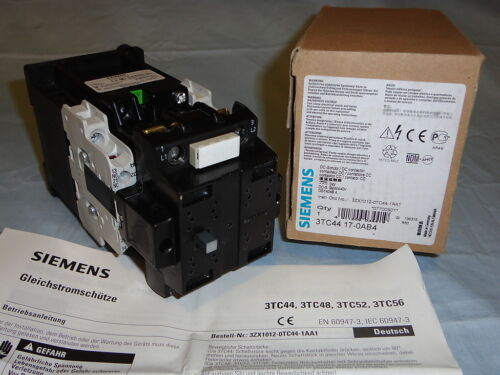 Siemens 3TC44170AB4 Electric DC Motor Contactor Starter 3TC44 17-0AB4 NEW