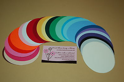 "25 Sizzix Ovals 3 3/4"" x 3 - 25 Assorted Colors"