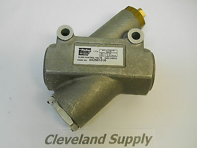 Parker 032501000 Pneumatichydraulic Flow Control Valve 1npt New Condition