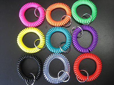 One Spiral Wrist Coil Key Chain / High Quality / $3.39 Flat Shipping for any - Coil Key Chain