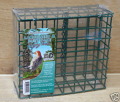 Pine Tree Farms Hanging Large Seed & Suet Cake Fruit Cage Feeder  1451