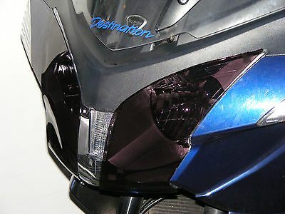 TRIUMPH TROPHY 1200 13 15 HEADLIGHT PROTECTORS DARK TINT   POWERBRONZE