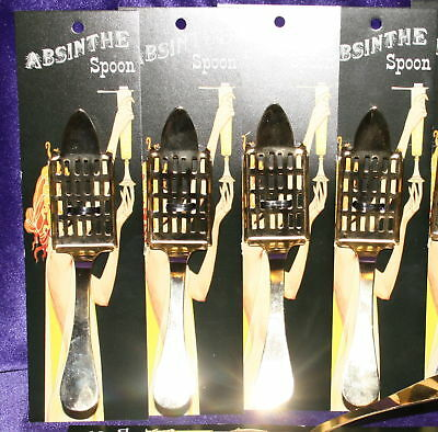 New Absinthe Imported #29 Spoon Set of 6, Gold plated