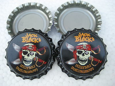 100 Jack Black (New unused bottle cap crowns) Free S&H--Soda/Beer category