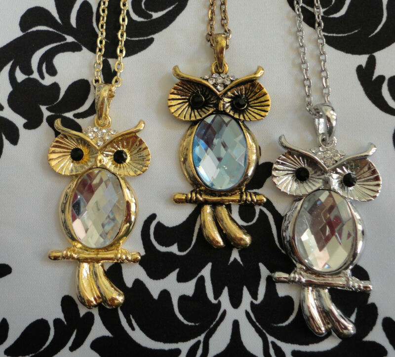 Owl Necklace Pendant! Hot BUY!!  USA SELLER, SHIPS 1 BUSINESS DAY!