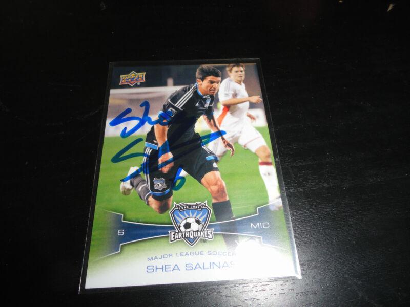 San Jose Earthquakes Shea Salinas Autographed Signed 2012 UD MLS Card