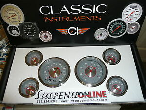 classic instruments silver series ss 6 guage set fl