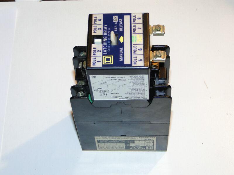 SQ-D (8501 LO-40-LL) 8 POLE  AC MECH LATCH  RELAY NEW  IN BOX