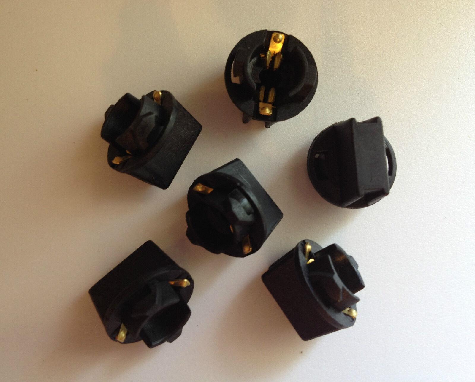 """Instrument Panel 4 3//8/"""" Instrument Cluster Light Bulb Sockets GM Chrysler AMC"""