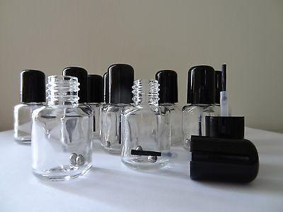 12 Mini Empty Nail Polish Bottles (5ml)