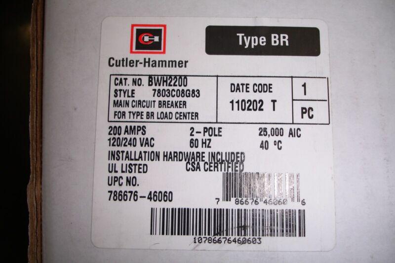 Challenger Westinghouse Cutler Hammer BWH2100,150, 200 Amp Main Circuit Breaker