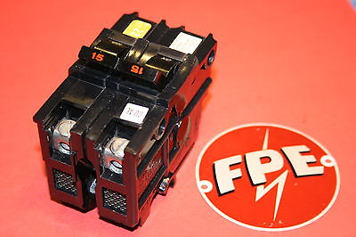 Federal Pacific 15 Amp 2-pole Breaker Type Na Wide 120 240 Volt