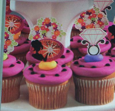 Bachelorette Classy Picks/Adornment 4 Cupcakes & Cake Decoration, Rings, Bouquet