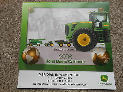 John Deere 2008 Calendar Building Quality NICE NOS NEW Old Stock