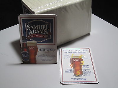 100 Samuel Adams Boston Lager Bar Coasters Pub Bottle Sleeve label Beer info ale
