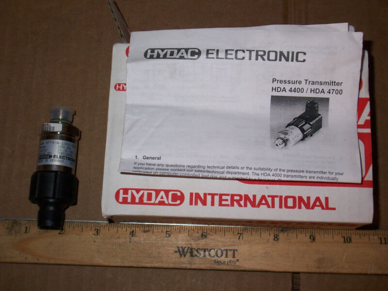 NEW HYDAC HDA 4744 ELECTRONIC PRESSURE TRANSMITTER 1000 PSI 10..30 VDC