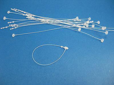 3 2000 Pc White Snap Lock Pin Security Loop Loc Plastic Tag Fastener