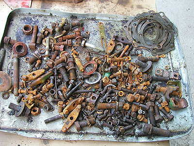 Oliver 77 Rowcrop Tractor Box Of Misc Parts Pieces Shims Generator Bracket