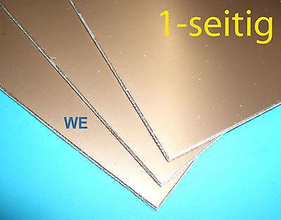 3 Stück Epoxyd Platine 100x160mm einseitig kupferbeschichtet / Leiterplatte