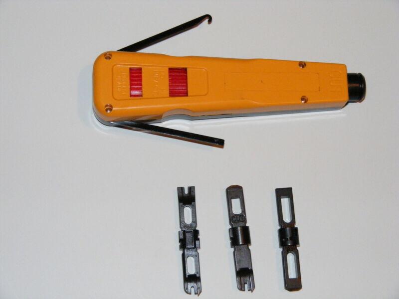 110 & 66 block punch down impact tool cat 5e cat 6