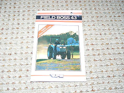 Oliver White Field Boss 43 Tractor Dealers Brochure