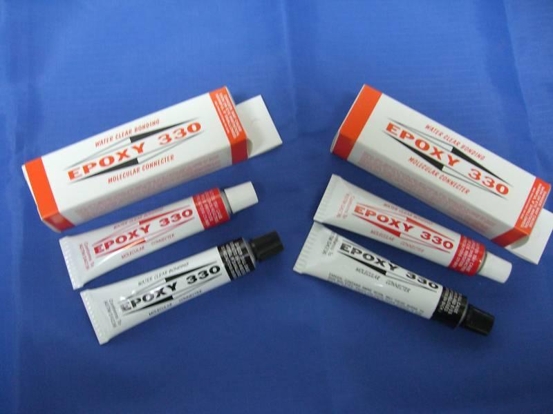 EPOXY 330 WATER CLEAR BONDING GEMS JEWELRY LAPIDARY GLUE CEMENT ADHESIVE 2 packs