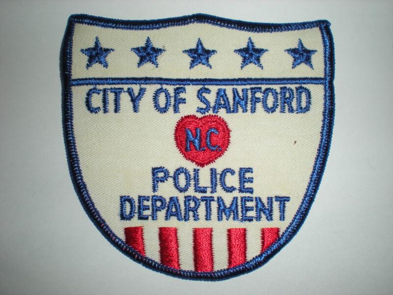SANFORD, NORTH CAROLINA POLICE DEPARTMENT PATCH