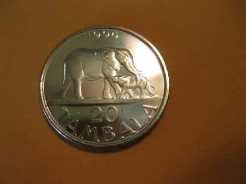 "1996 Malawi coin   ""ELEPHANT WITH BABY""   Uncirculated beauty"
