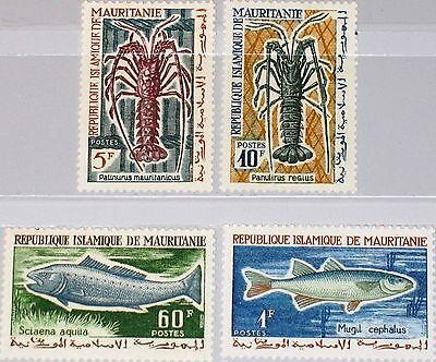 MAURITANIA MAURETANIEN 1964 236-39 177-80 Fischerei Fish Fische Langusten MNH