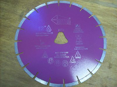 12 Purple Liberty Bell Blade For Soff Cut Saw - Early Entry Concrete Blade