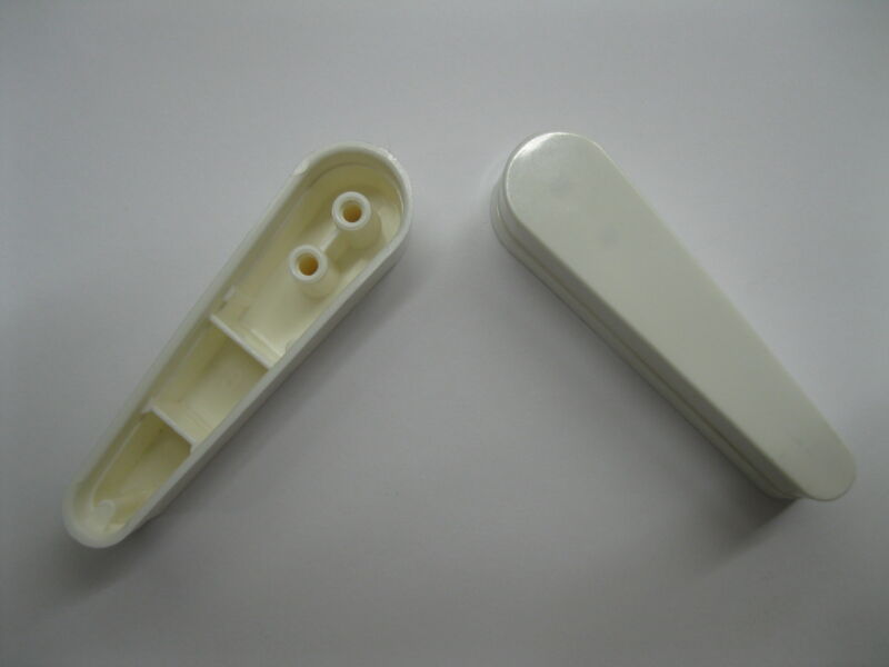"New Bally Flipper Bat Cap 3"" WHITE Set of 2 Pinball Flipper Caps"