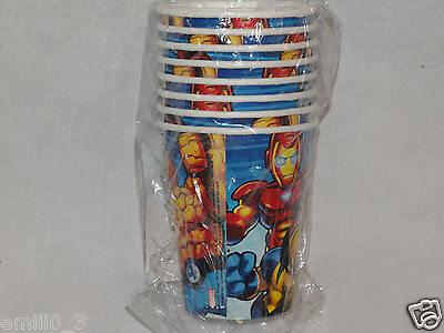 NEW MARVEL SUPER HERO SQUAD PAPER CUPS  PARTY SUPPLIES   (Super Hero Squad Party Supplies)