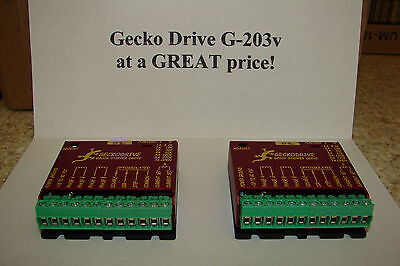 Two Cnc Geckodrive G-203v One Year Factory Warranty Steppr Motor Driver Wextras