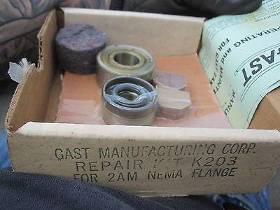 Gast K203 Manufacturing Repair Kit K203 For 2am Nema Flange