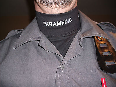 Collet Sleeve (T-Shirt Mock Neck BLACK PARAMEDIC long sleeve)
