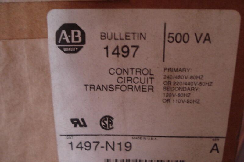 NEW ALLEN BRADLEY CONTROL CIRCUIT TRANSFORMER 1497-N19